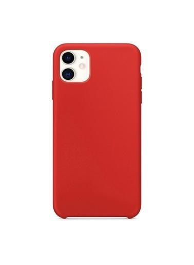 Bludfire Apple iPhone 11 (6.1'') Kılıf Liquid Lansman Silikon Kırmızı Kırmızı